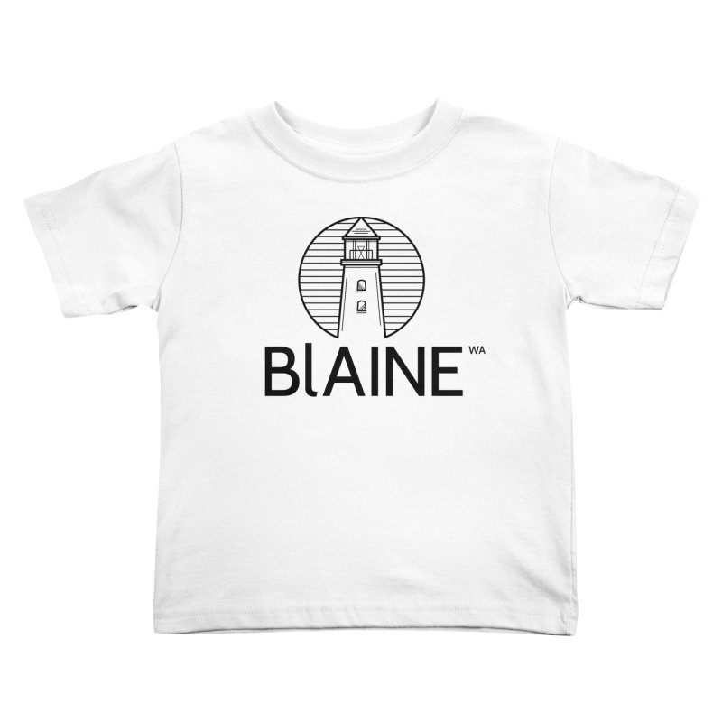 Blaine Lighthouse Black Kids Toddler T-Shirt by Life Lurking's Artist Shop