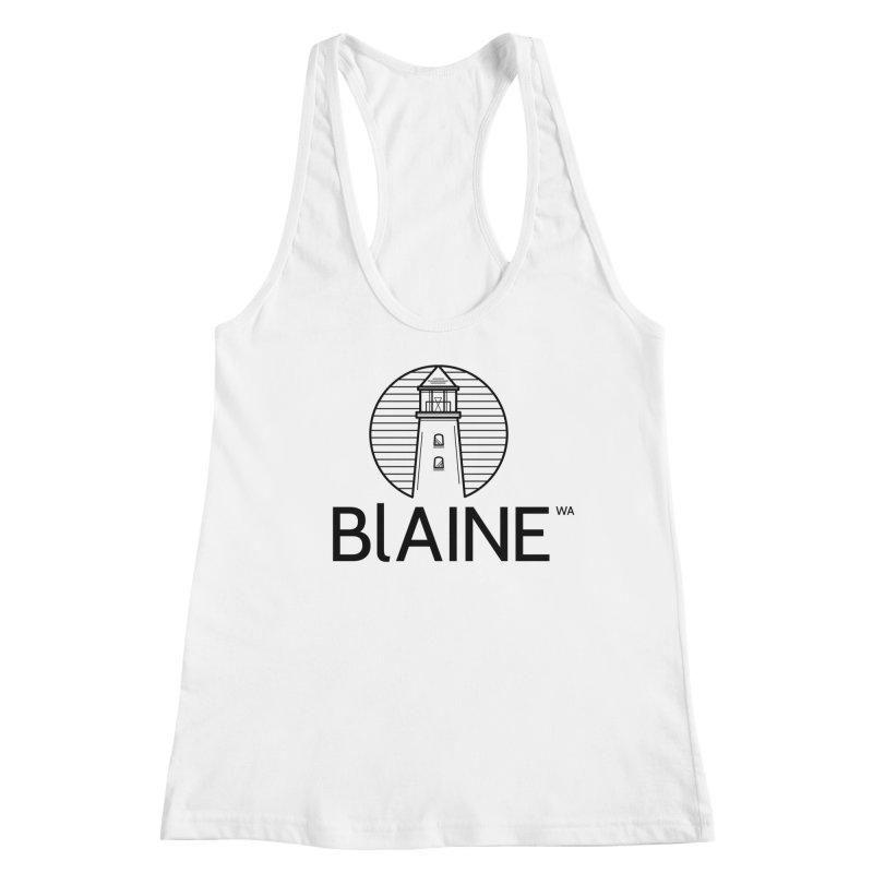 Blaine Lighthouse Black Women's Tank by Life Lurking's Artist Shop