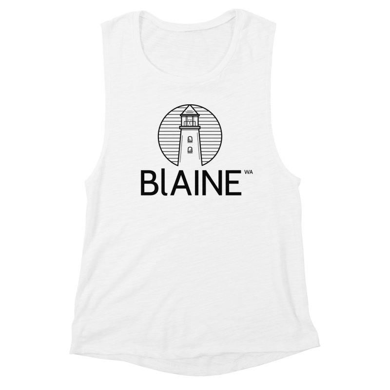 Blaine Lighthouse Black Women's Tank by Life Lurking's Artist Shop