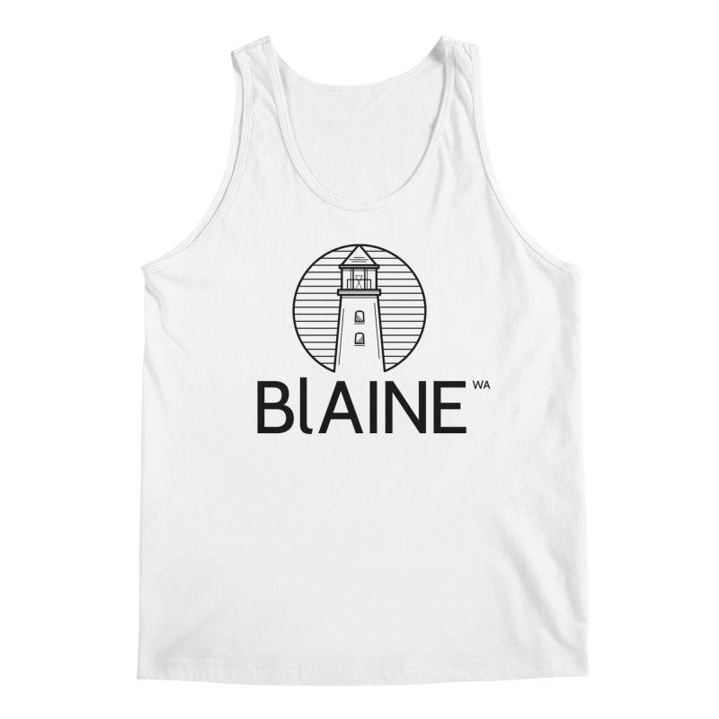 Blaine Lighthouse Black Men's Tank by Life Lurking's Artist Shop