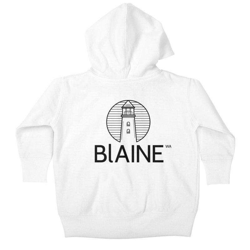 Blaine Lighthouse Black Kids Baby Zip-Up Hoody by Life Lurking's Artist Shop