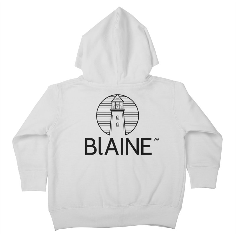 Blaine Lighthouse Black Kids Toddler Zip-Up Hoody by Life Lurking's Artist Shop