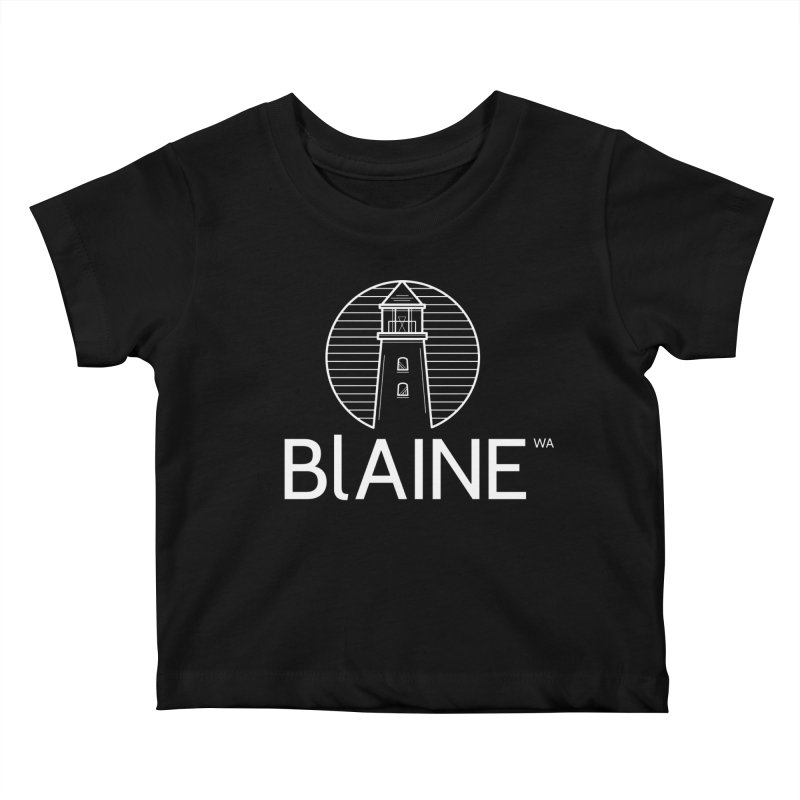 Blaine Lighthouse White Kids Baby T-Shirt by Life Lurking's Artist Shop