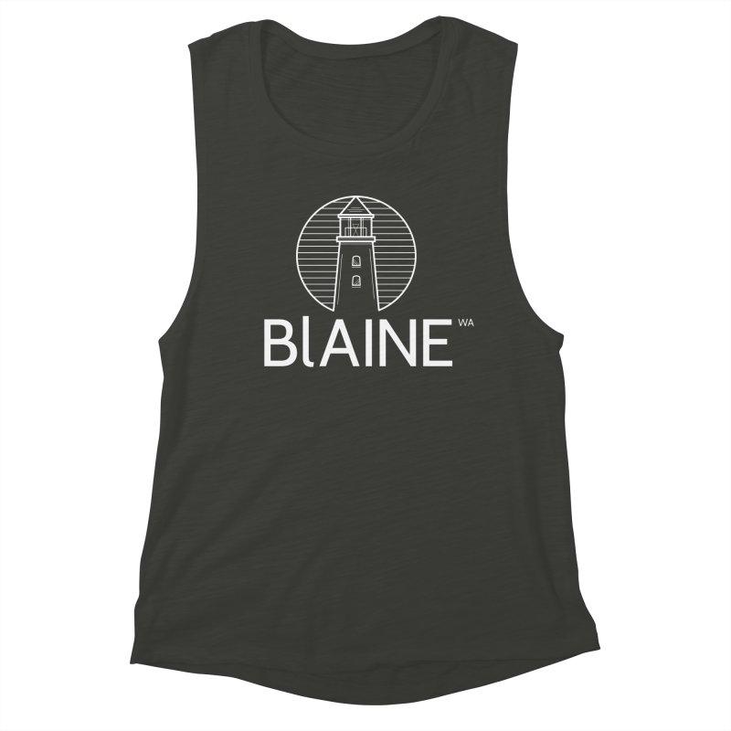 Blaine Lighthouse White Women's Tank by Life Lurking's Artist Shop