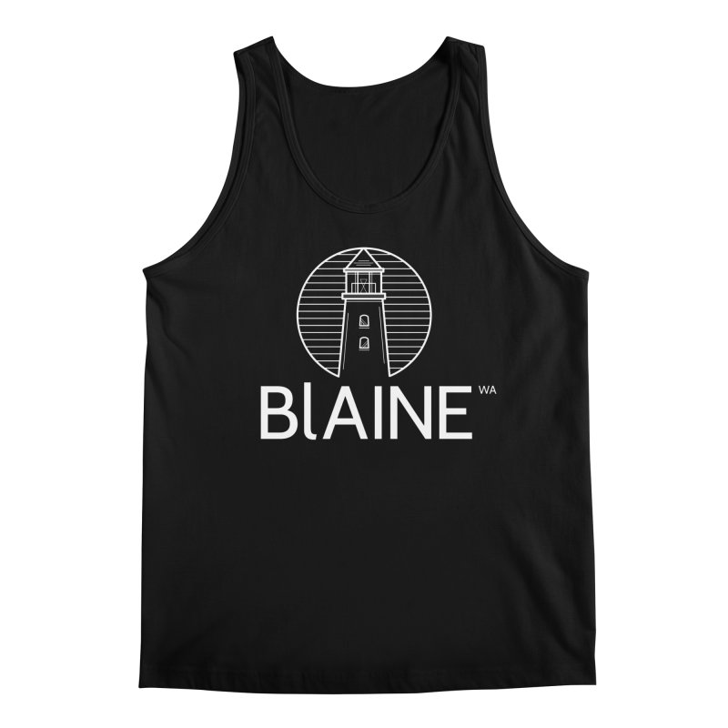 Blaine Lighthouse White Men's Tank by Life Lurking's Artist Shop