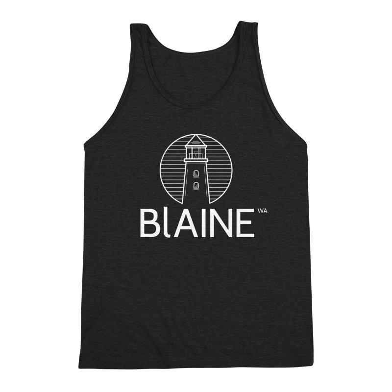 Blaine Lighthouse White Men's Tank by Life Lurking's Artist Shop
