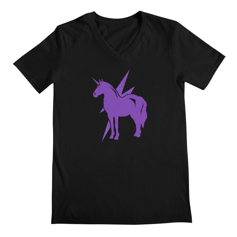 Unicorn T-shirt Men's V-Neck by Life Lurking's Artist Shop