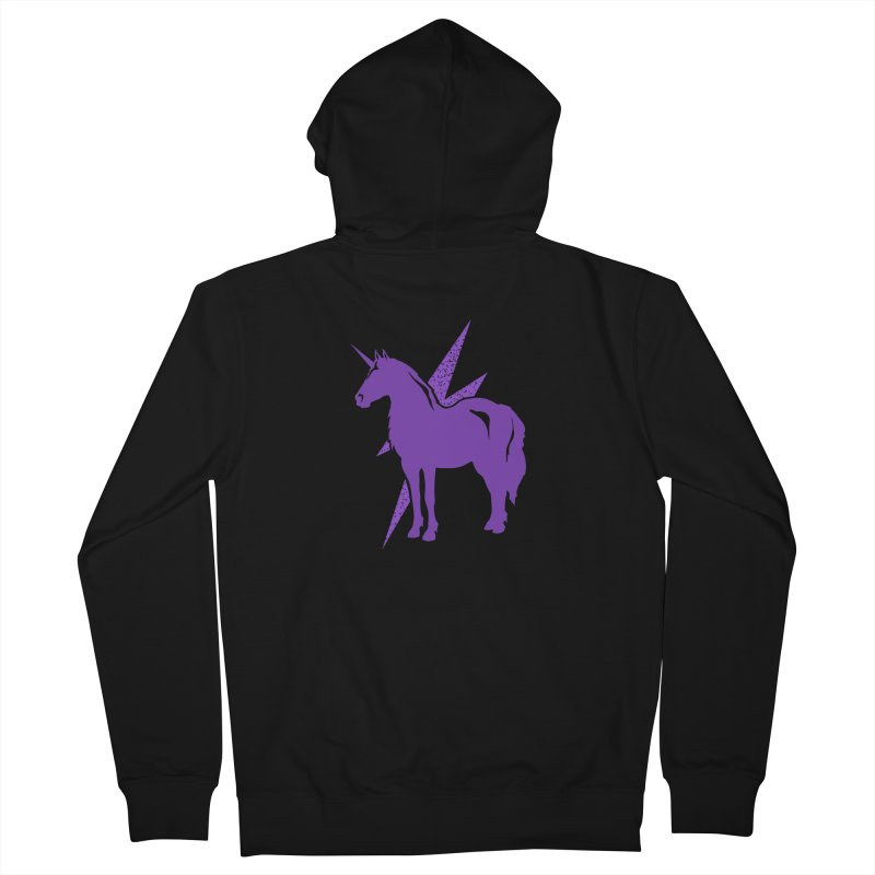 Unicorn Hoodies Men's Zip-Up Hoody by Life Lurking's Artist Shop