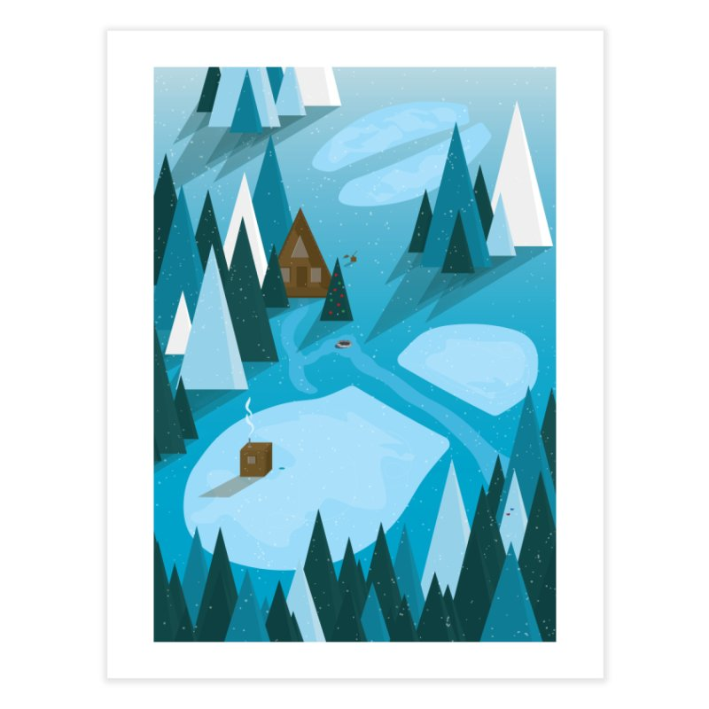 Winter Paul & Babe Footprints Poster Home Fine Art Print by Life Lurking's Artist Shop