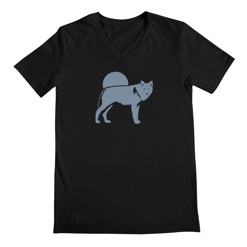 Wolf T-shirt Men's V-Neck by Life Lurking's Artist Shop