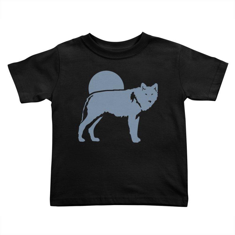Wolf T-shirt Kids Toddler T-Shirt by Life Lurking's Artist Shop