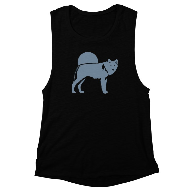 Wolf T-shirt Women's Tank by Life Lurking's Artist Shop