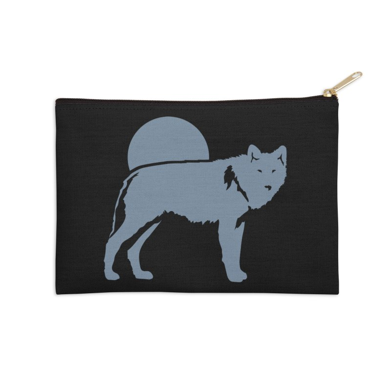 Wolf T-shirt Accessories Zip Pouch by Life Lurking's Artist Shop