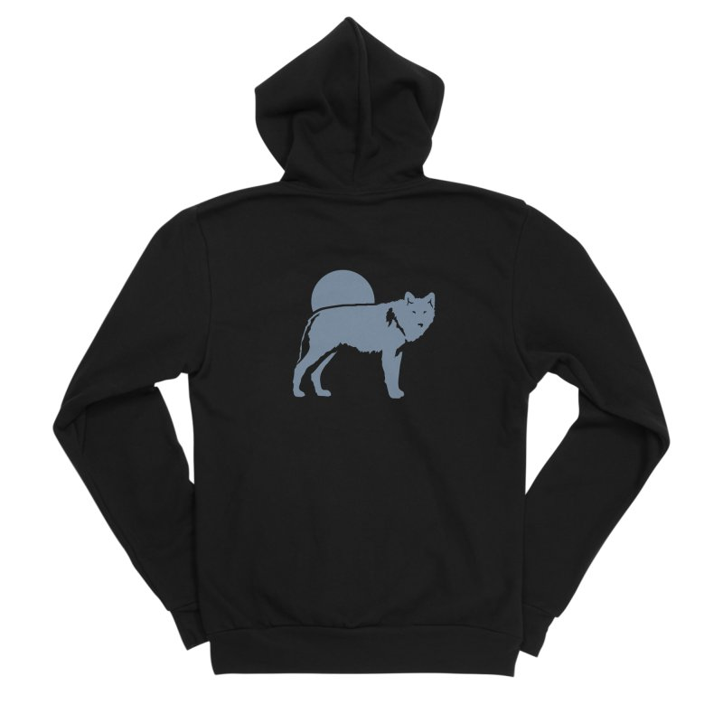 Wolf Hoodies Men's Zip-Up Hoody by Life Lurking's Artist Shop