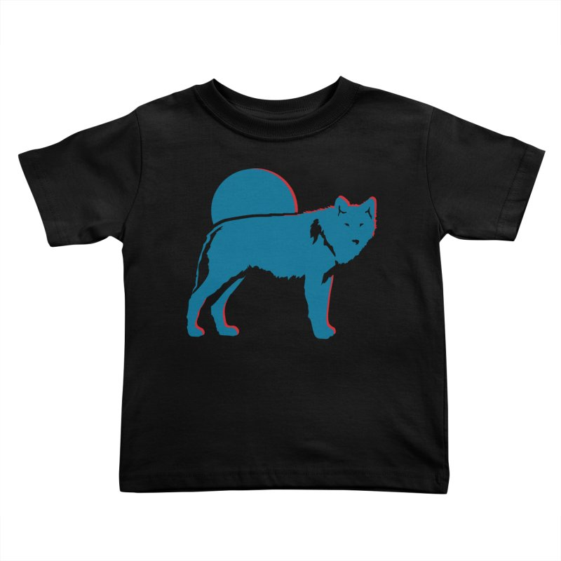 Wolf 3D Style T-shirts Kids Toddler T-Shirt by Life Lurking's Artist Shop