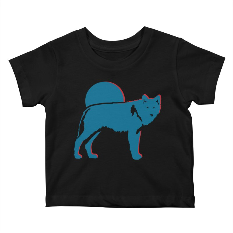 Wolf 3D Style T-shirts Kids Baby T-Shirt by Life Lurking's Artist Shop