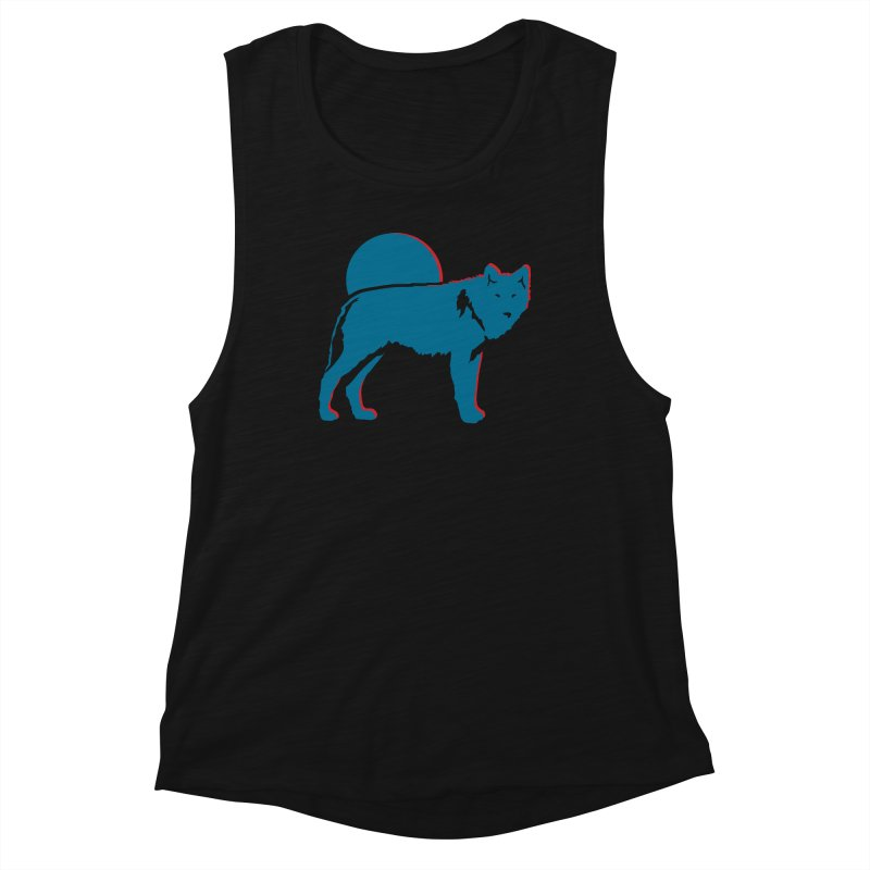 Wolf 3D Style T-shirts Women's Tank by Life Lurking's Artist Shop