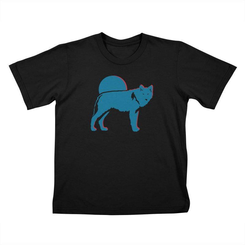 Wolf 3D Style T-shirts Kids T-Shirt by Life Lurking's Artist Shop