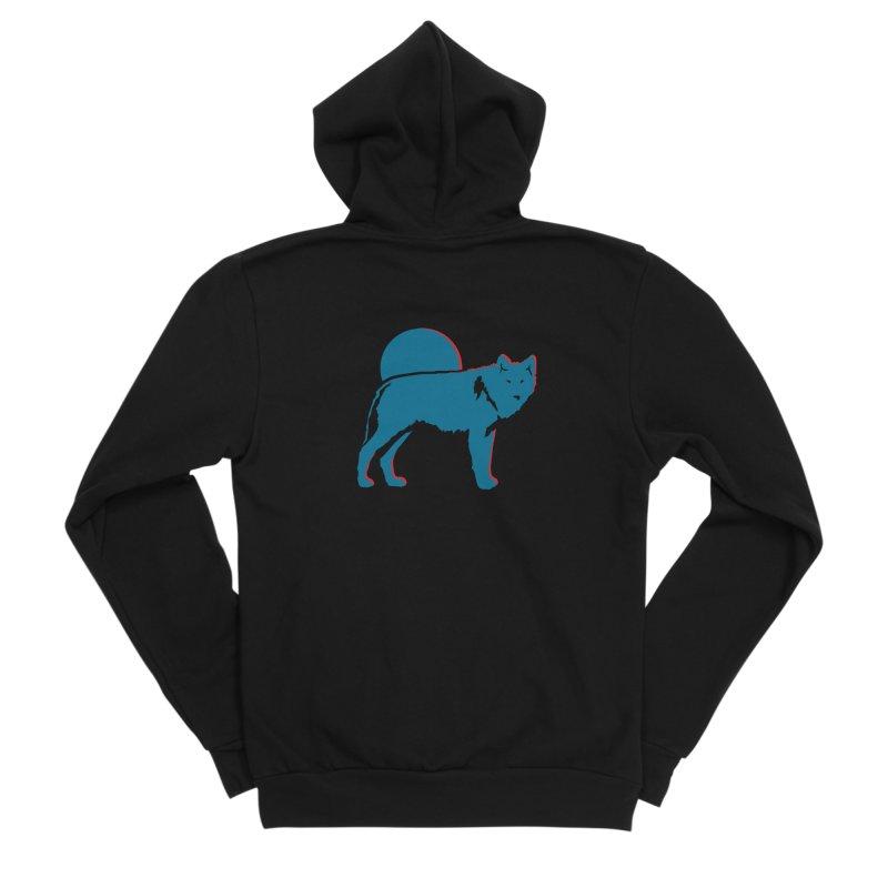 Wolf 3D Style Hoodies Men's Zip-Up Hoody by Life Lurking's Artist Shop