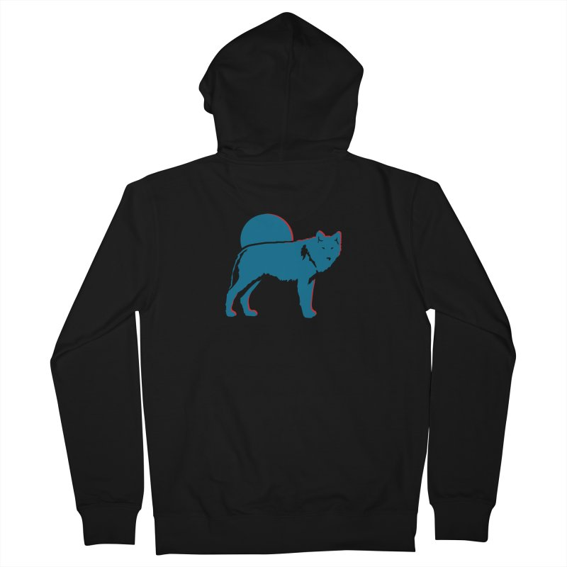 Wolf 3D Style Hoodies Men's Zip-Up Hoody by Life Lurking's Artist Shop