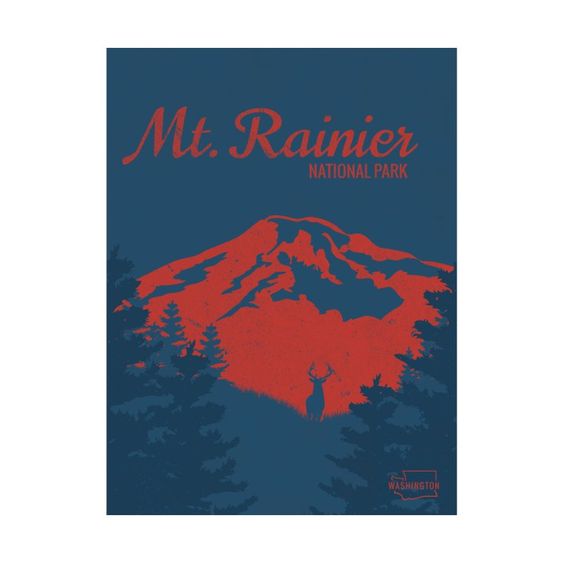 Mt. Rainier Poster by Life Lurking's Artist Shop