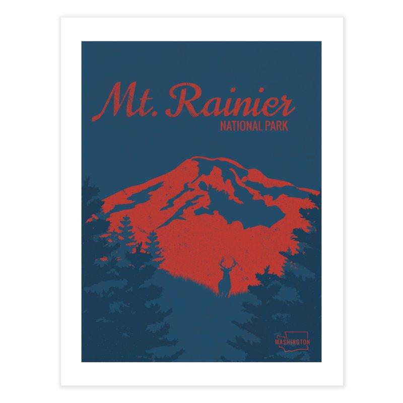 Mt. Rainier Poster Home Fine Art Print by Life Lurking's Artist Shop