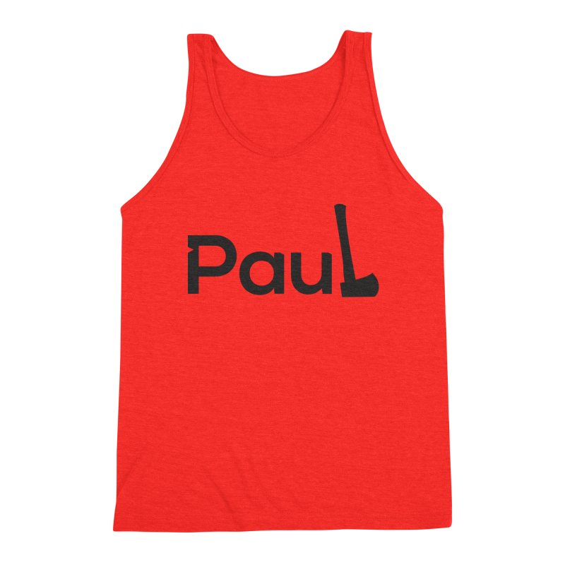 Paul With An Axe Black T-shirts Men's Tank by Life Lurking's Artist Shop