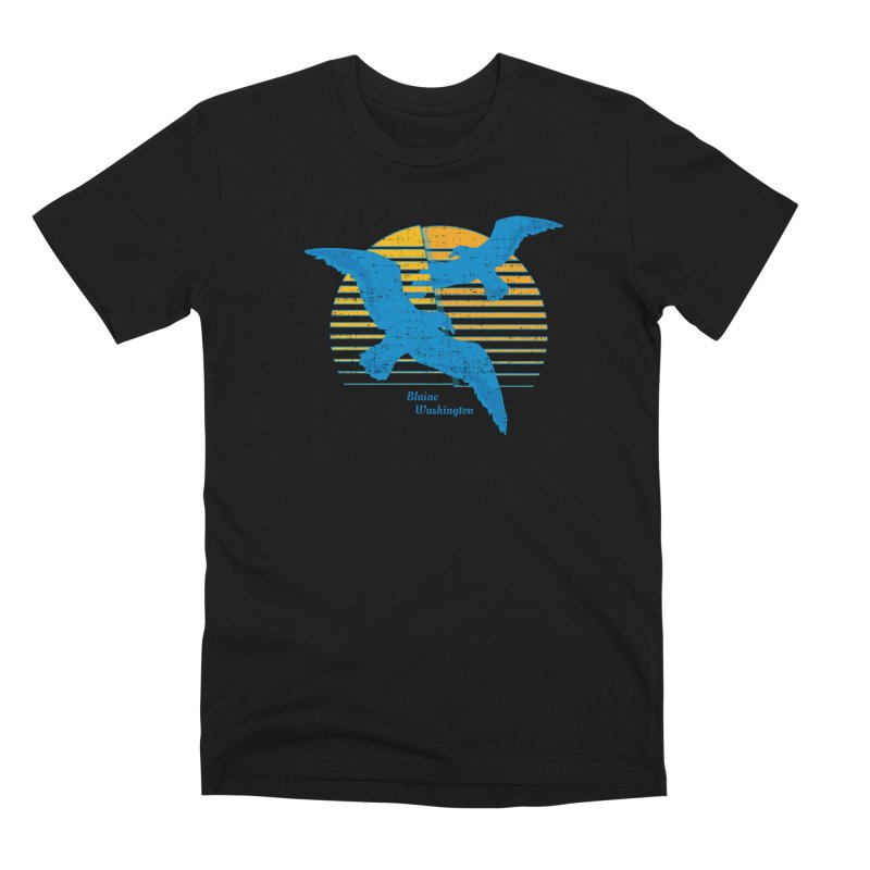 Seagulls In Blaine, Washington T-shirt Men's T-Shirt by Life Lurking's Artist Shop