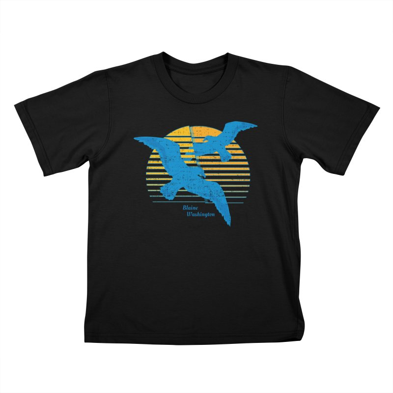 Seagulls In Blaine, Washington T-shirt Kids T-Shirt by Life Lurking's Artist Shop