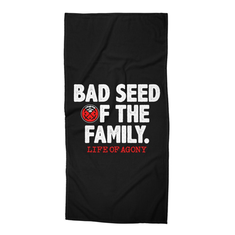 "Life of Agony ""Bad Seed"" Lyric Design Accessories Beach Towel by Life of Agony Official Threadless Designs"