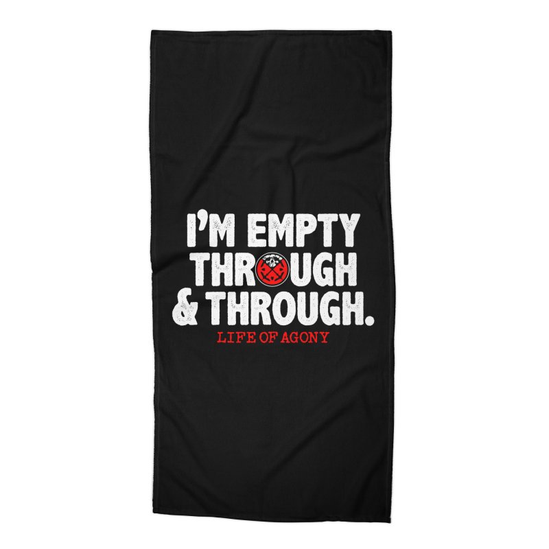 "Life of Agony ""Through and Through"" Lyric Design Accessories Beach Towel by Life of Agony Official Threadless Designs"