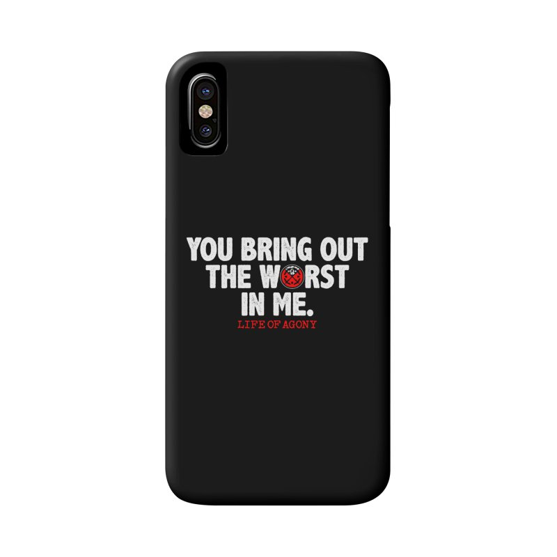 "Life of Agony ""Bring Out the Worst in Me"" Lyric Design Accessories Phone Case by Life of Agony Official Threadless Designs"