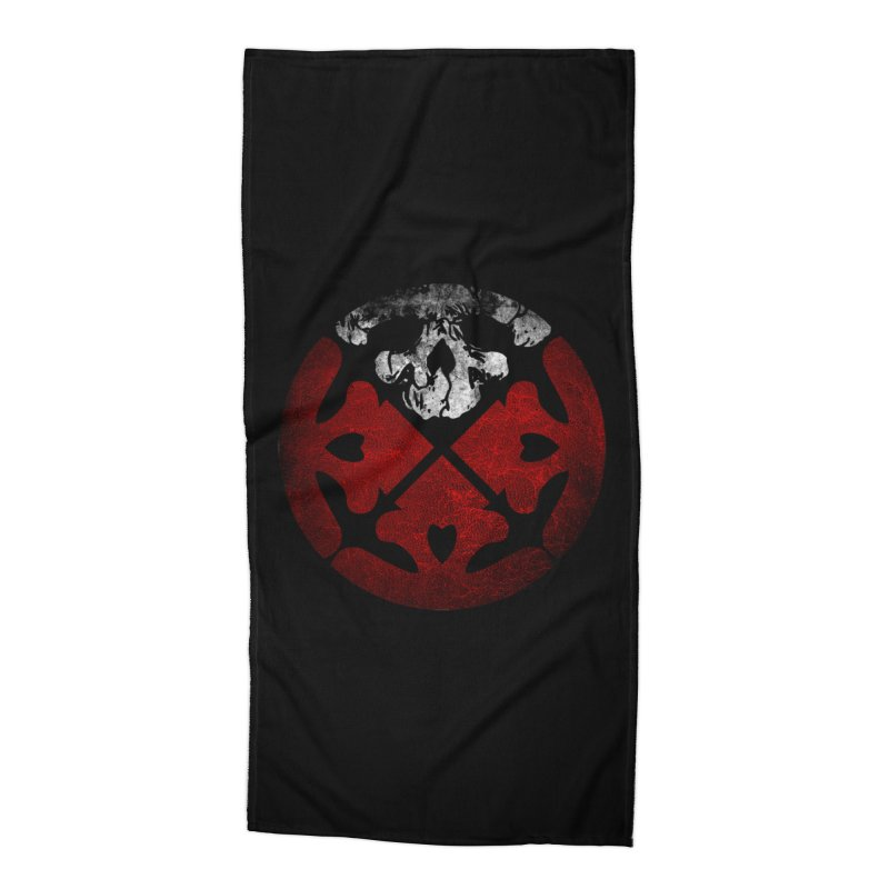 Life of Agony Skull Logo Texure [Small] Accessories Beach Towel by Life of Agony Official Threadless Designs