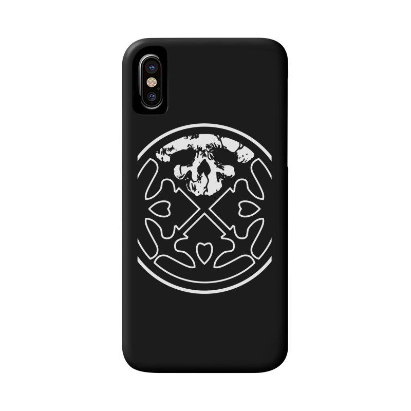 Life of Agony Skull Logo Black & White Oversized Design Accessories Phone Case by Life of Agony Official Threadless Designs