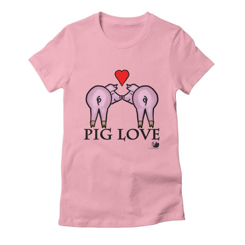 Pig Love Women's T-Shirt by lifewithpigs's Artist Shop