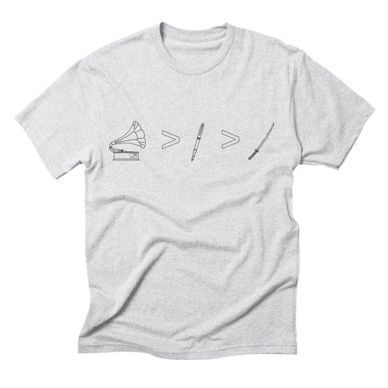 Greater Than Men's T-Shirt by lightclub's Artist Shop
