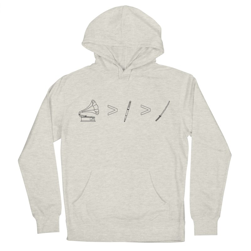 Greater Than Men's French Terry Pullover Hoody by lightclub's Artist Shop