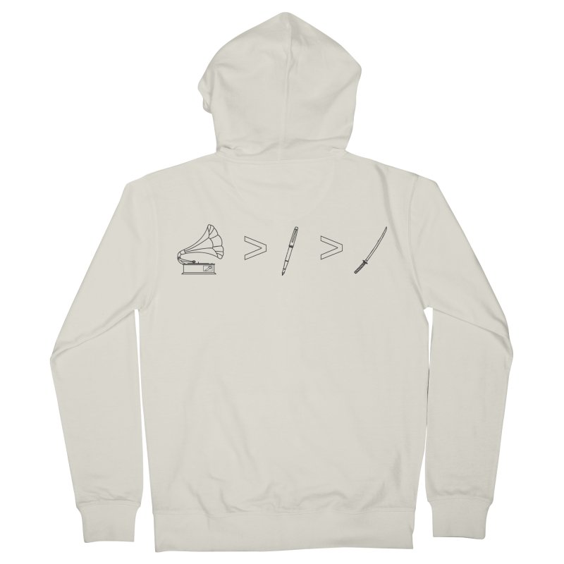 Greater Than Men's French Terry Zip-Up Hoody by lightclub's Artist Shop