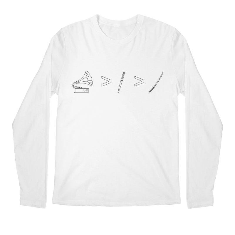 Greater Than Men's Regular Longsleeve T-Shirt by lightclub's Artist Shop