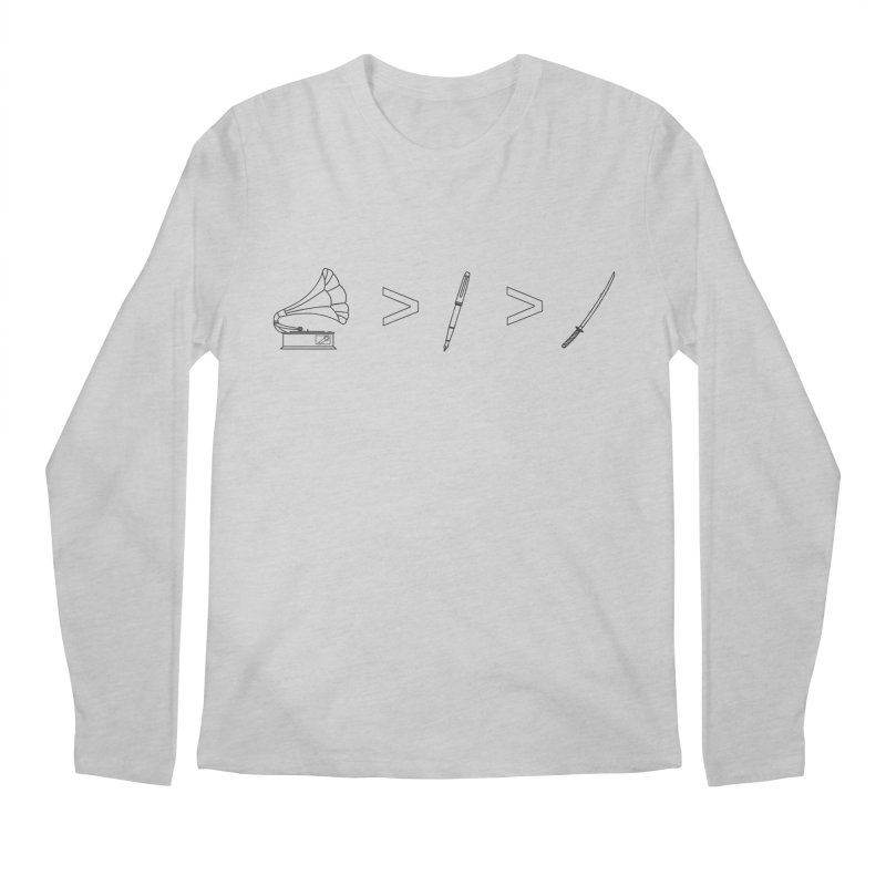 Greater Than Men's Regular Longsleeve T-Shirt by lightclub's Artist Shop