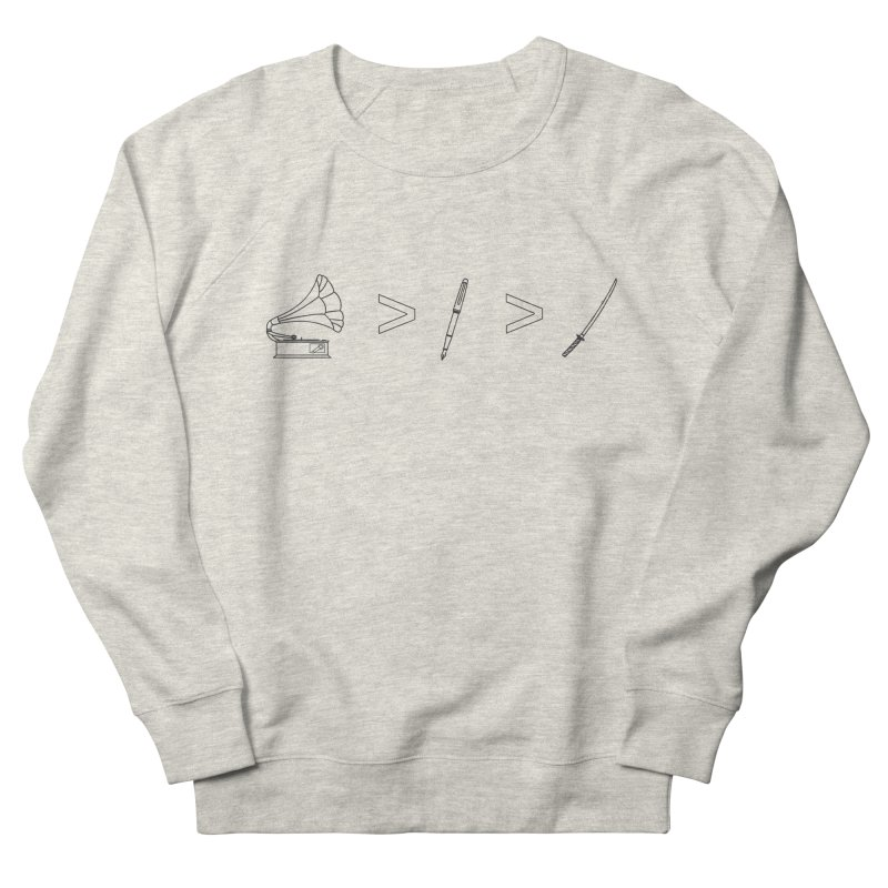 Greater Than Men's French Terry Sweatshirt by lightclub's Artist Shop