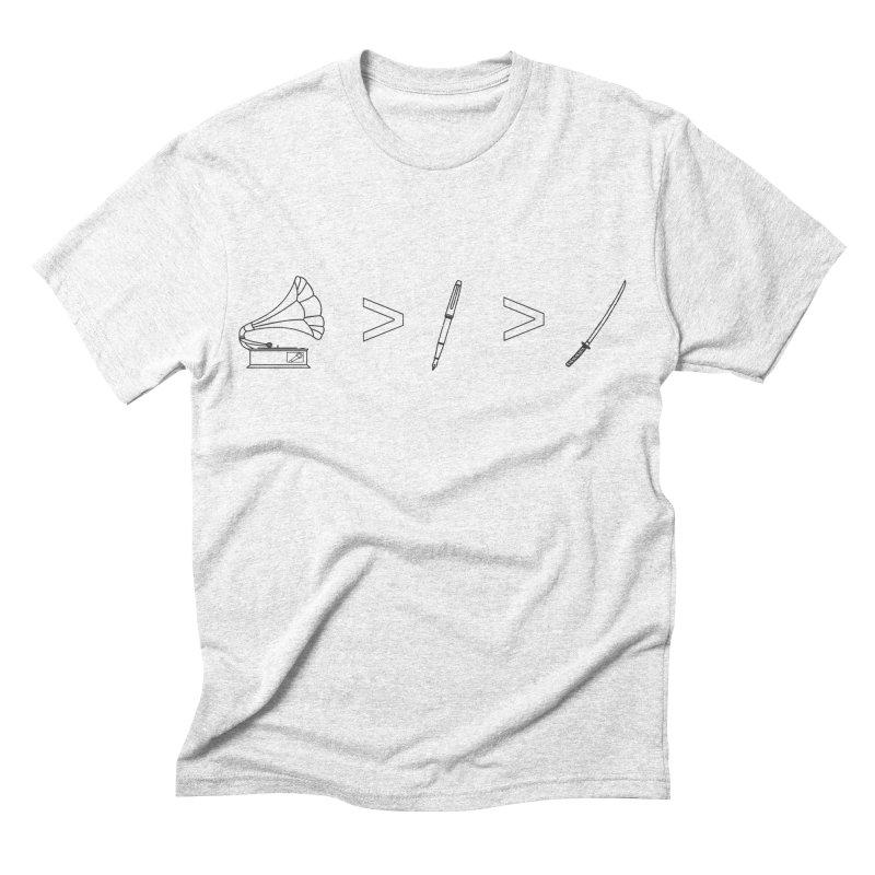 Greater Than Men's Triblend T-shirt by lightclub's Artist Shop