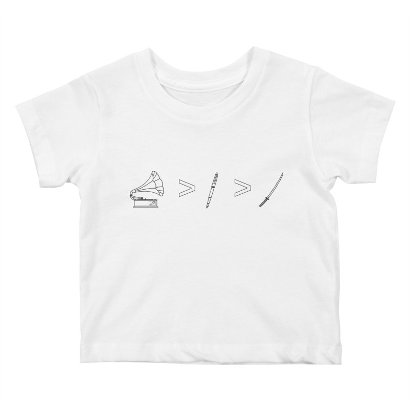 Greater Than Kids Baby T-Shirt by lightclub's Artist Shop