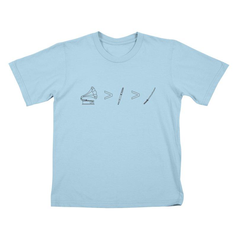 Greater Than Kids T-Shirt by lightclub's Artist Shop