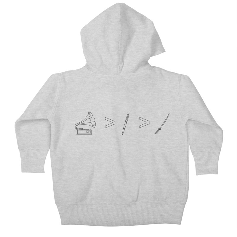 Greater Than Kids Baby Zip-Up Hoody by lightclub's Artist Shop