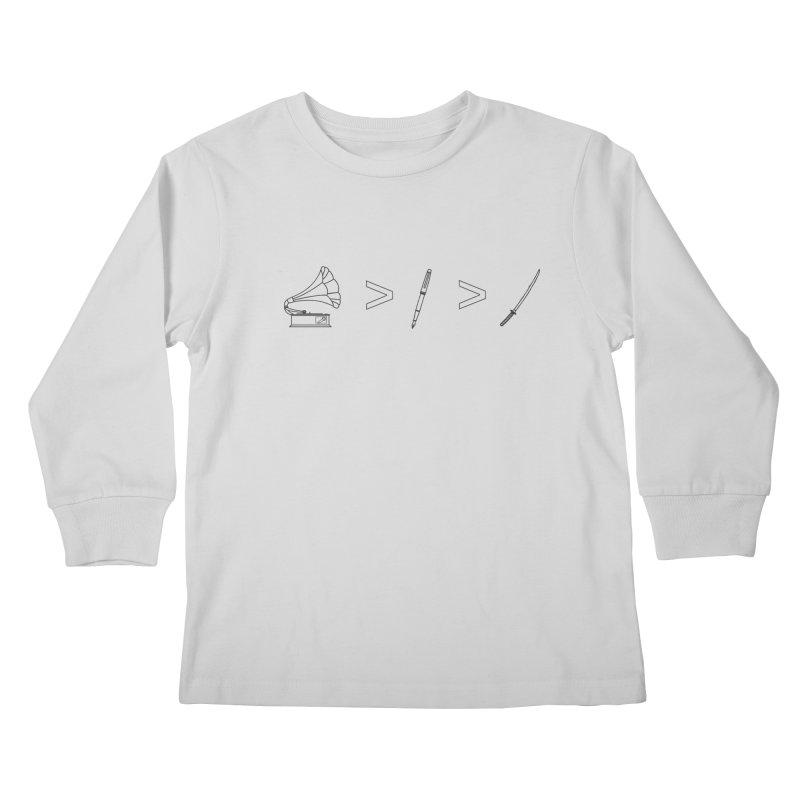 Greater Than Kids Longsleeve T-Shirt by lightclub's Artist Shop