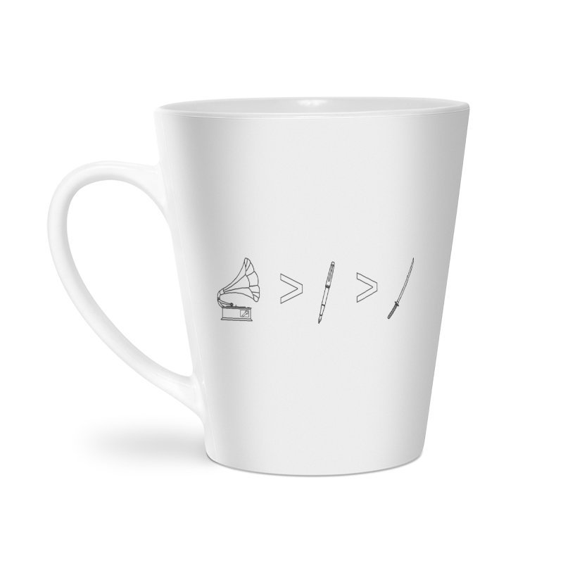 Greater Than Accessories Latte Mug by lightclub's Artist Shop