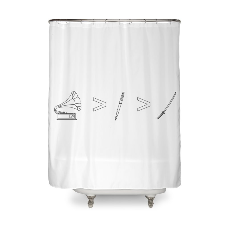 Greater Than Home Shower Curtain by lightclub's Artist Shop