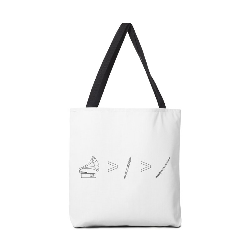 Greater Than Accessories Bag by lightclub's Artist Shop