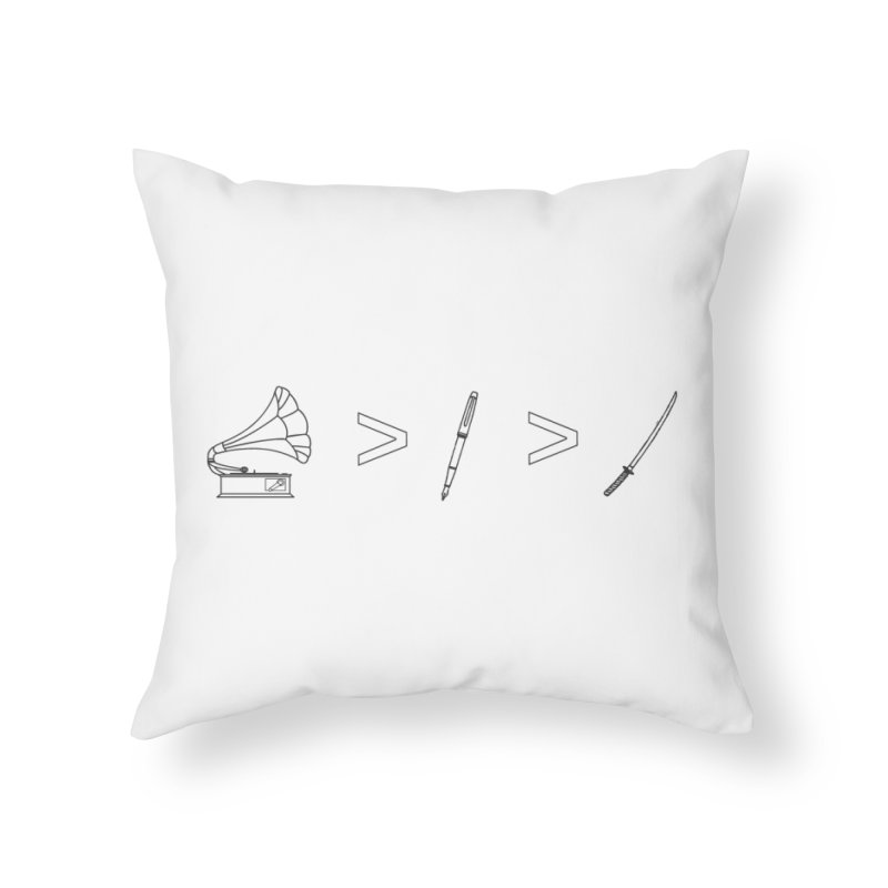 Greater Than Home Throw Pillow by lightclub's Artist Shop